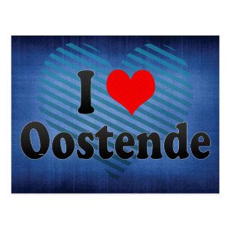 I Love Oostende, Belgium Postcard