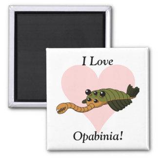 I Love Opabinia! Magnets