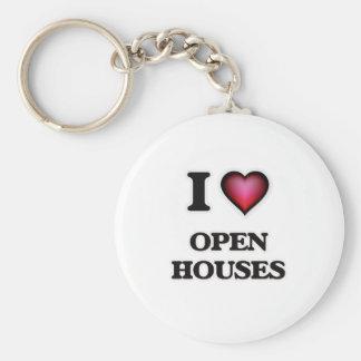 I Love Open Houses Key Ring