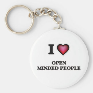 I Love Open Minded People Key Ring