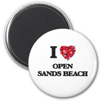 I love Open Sands Beach Florida 6 Cm Round Magnet