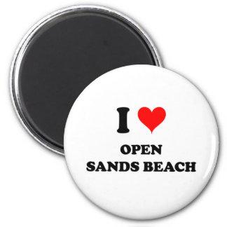 I Love Open Sands Beach Florida Fridge Magnets