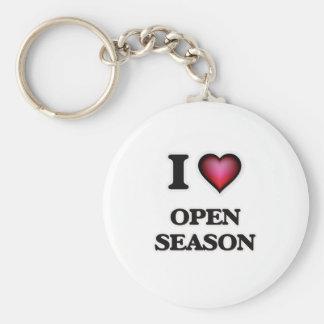 I Love Open Season Key Ring