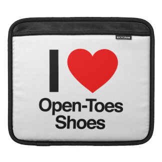 i love open-toes shoes sleeve for iPads