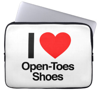i love open-toes shoes laptop computer sleeves