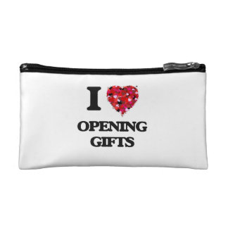 I Love Opening Gifts Makeup Bag
