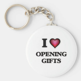 I Love Opening Gifts Key Ring