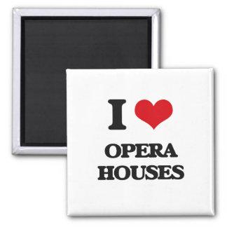 I Love Opera Houses Fridge Magnets