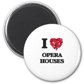 I Love Opera Houses 6 Cm Round Magnet