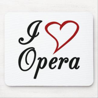 I Love Opera Mouse Pads