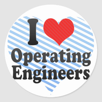 I Love Operating Engineers Stickers