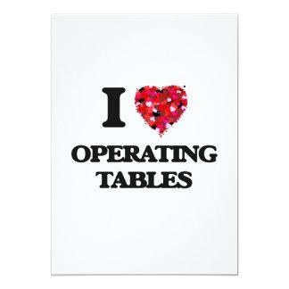 I Love Operating Tables 13 Cm X 18 Cm Invitation Card