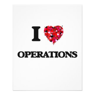 I Love Operations 11.5 Cm X 14 Cm Flyer