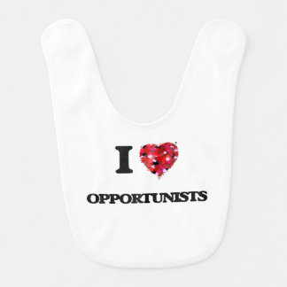 I Love Opportunists Baby Bibs