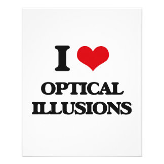 I Love Optical Illusions Personalized Flyer