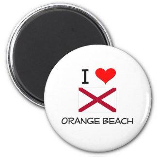 I Love ORANGE BEACH Alabama 6 Cm Round Magnet