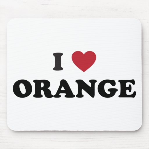 I Love Orange California Mousepad