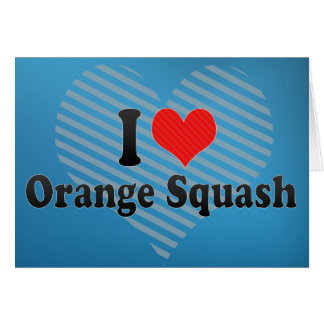 I Love Orange Squash Card