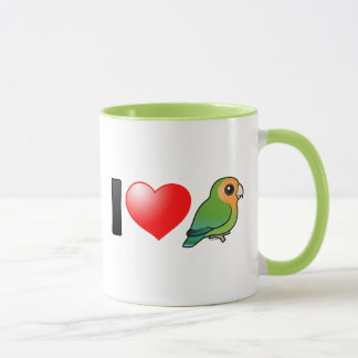 I Love Orangeface Peach-faced Lovebirds Mug