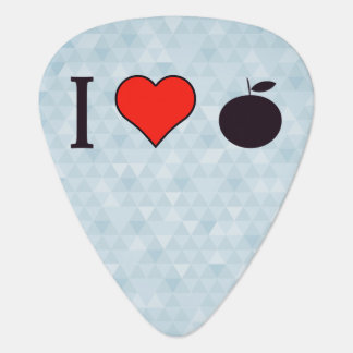 I Love Oranges Guitar Pick