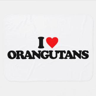 I LOVE ORANGUTANS SWADDLE BLANKET
