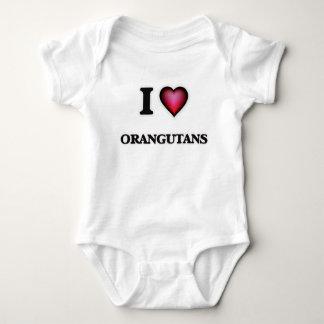 I Love Orangutans Baby Bodysuit