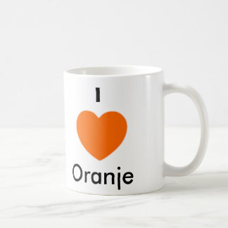 I love Oranje Basic White Mug