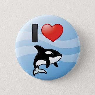 I Love Orcas 6 Cm Round Badge