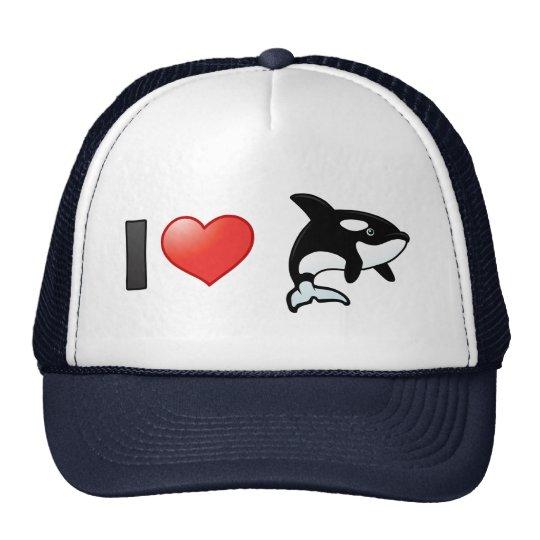 I Love Orcas Cap
