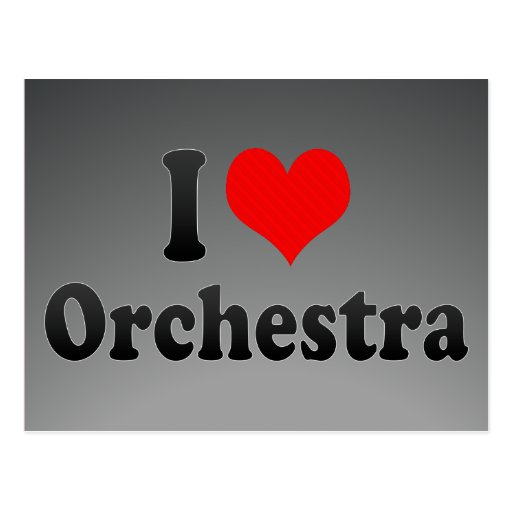 I love Orchestra Postcard