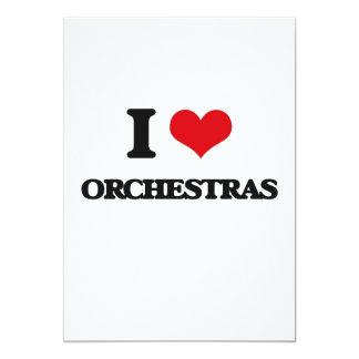 I love Orchestras 13 Cm X 18 Cm Invitation Card