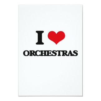 """I love Orchestras 3.5"""" X 5"""" Invitation Card"""