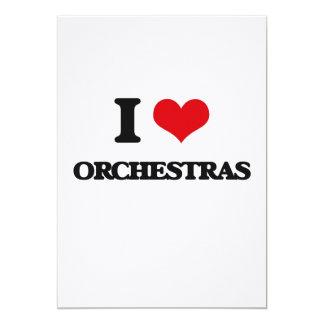 """I love Orchestras 5"""" X 7"""" Invitation Card"""