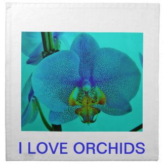 I LOVE ORCHIDS NAPKIN