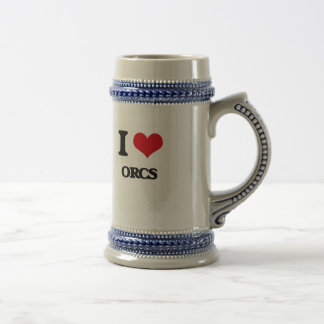 I love Orcs 18 Oz Beer Stein