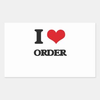 I Love Order Rectangle Sticker