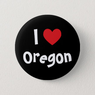 I Love Oregon 6 Cm Round Badge