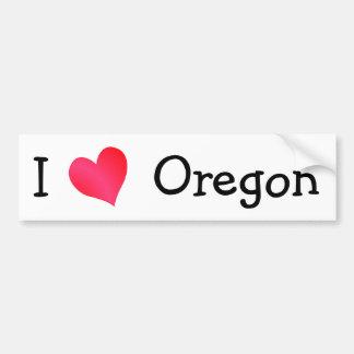 I Love Oregon Bumper Sticker