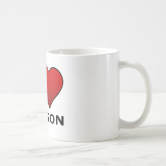 I LOVE OREGON COFFEE MUG