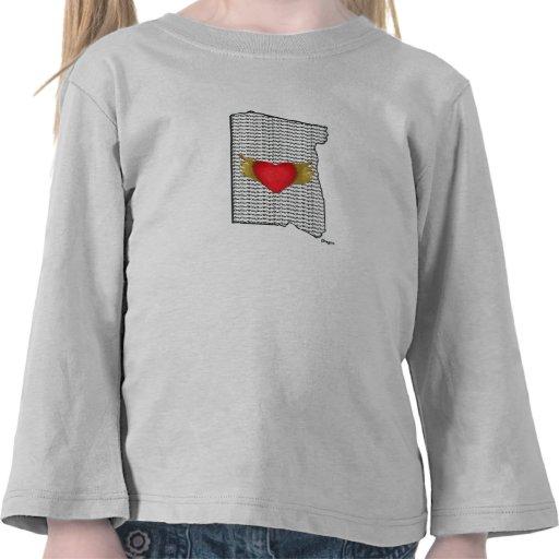 """""""I Love Oregon"""" Girls Top T-shirts"""