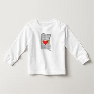 """I Love Oregon"" Girls Top Tshirts"