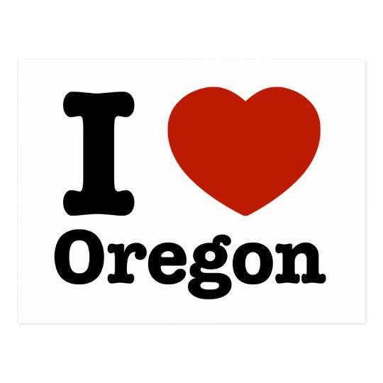 I Love Oregon Postcard