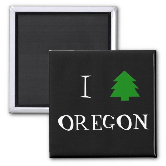 I love Oregon Square Magnet