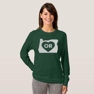 I Love Oregon State Women's Long Sleeve T-Shirt