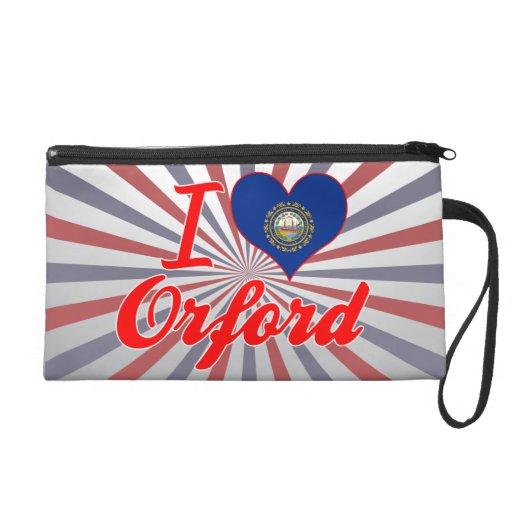 I Love Orford, New Hampshire Wristlet Purses