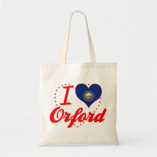 I Love Orford, New Hampshire Tote Bags