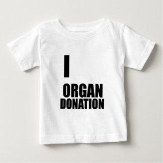 I love Organ Donation - Cool Funny Design Baby T-Shirt