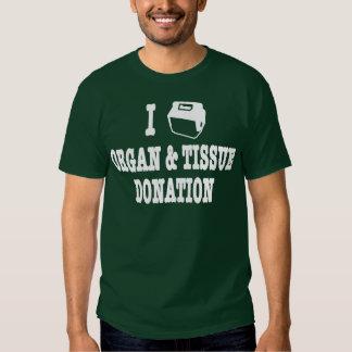 """I """"Love"""" Organ & Tissue Donation Tshirts"""