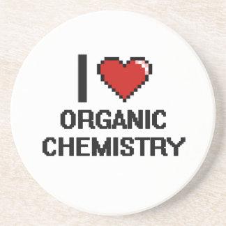 I Love Organic Chemistry Digital Design Drink Coaster