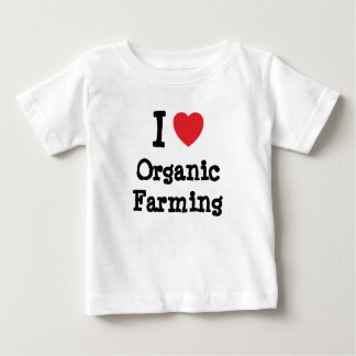 I love Organic Farming heart custom personalized Shirts